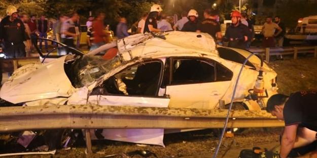 Maltepe'de dehşet kaza: 1 ölü, 5 yaralı
