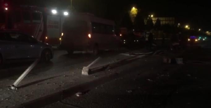 Maltepe'de trafik kazası: 1 yaralı