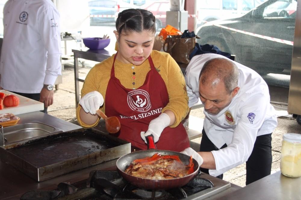 Manavgat'ın özel çocukları Gastro Manavgat'ta yarıştı