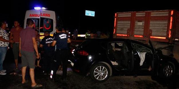 Manisa'da feci kaza: 5 kişi yaralandı