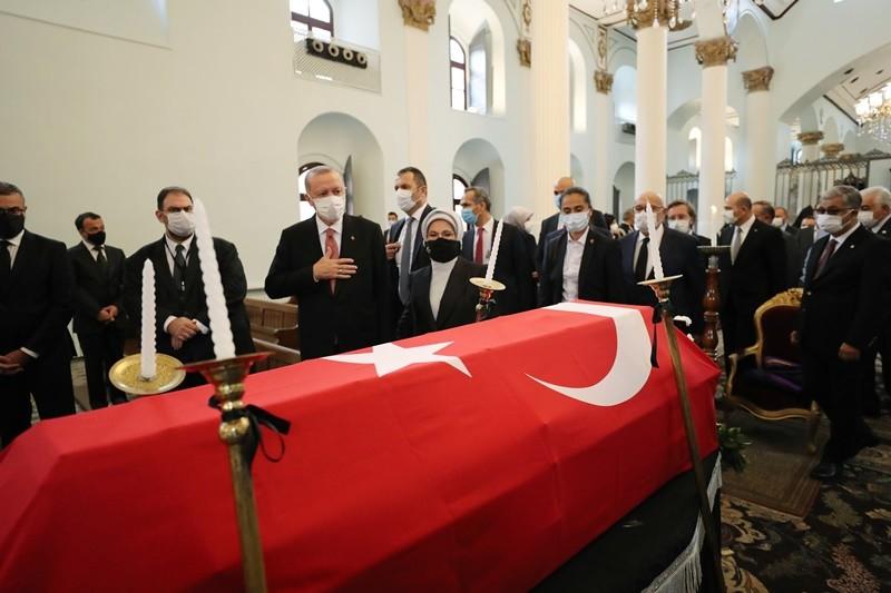 Markar Esayan cenazesine Cumhurbaşkanı Erdoğan da katıldı