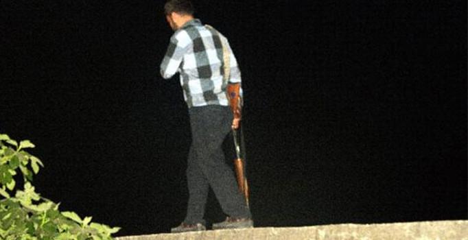 Market sahibi tüfekle hırsız avına çıktı