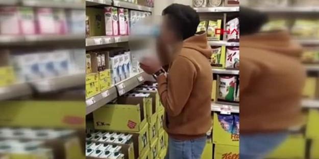 Marketteki sütü içip bırakan çocuk konuştu! Bakın ne için yapmış
