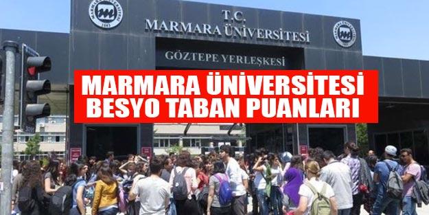 Marmara Üniversitesi Besyo taban puanları 2019