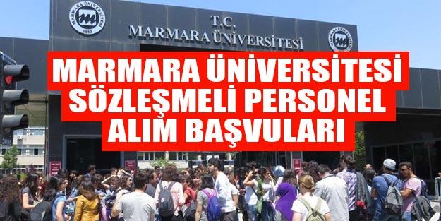 Marmara Üniversitesi sözleşmeli personel alımı son dakika başvuruları