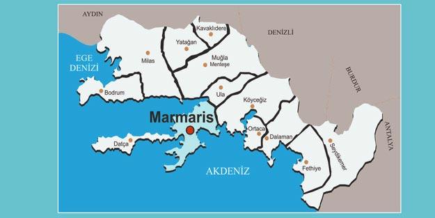 Marmaris'te fay hattı nereden geçiyor?