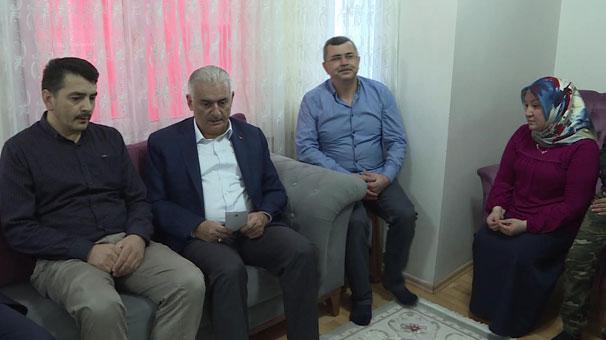 Meclis Başkanı Binali Yıldırım, şehit ailesini ziyaret etti