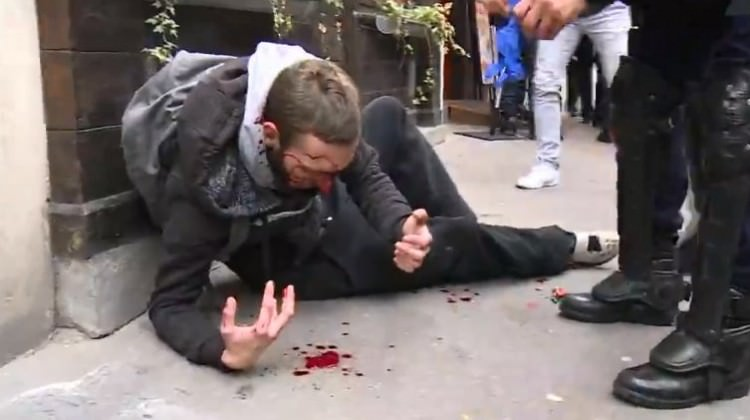 Medeni Avrupa'da polis şiddeti!
