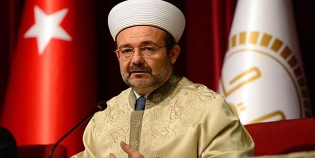Mehmet Görmez'den Kudüs'teki ezan yasağına sert tepki