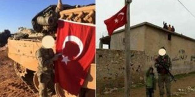 Mehmetçik kriitk bölgeye Türk bayrağını dikti
