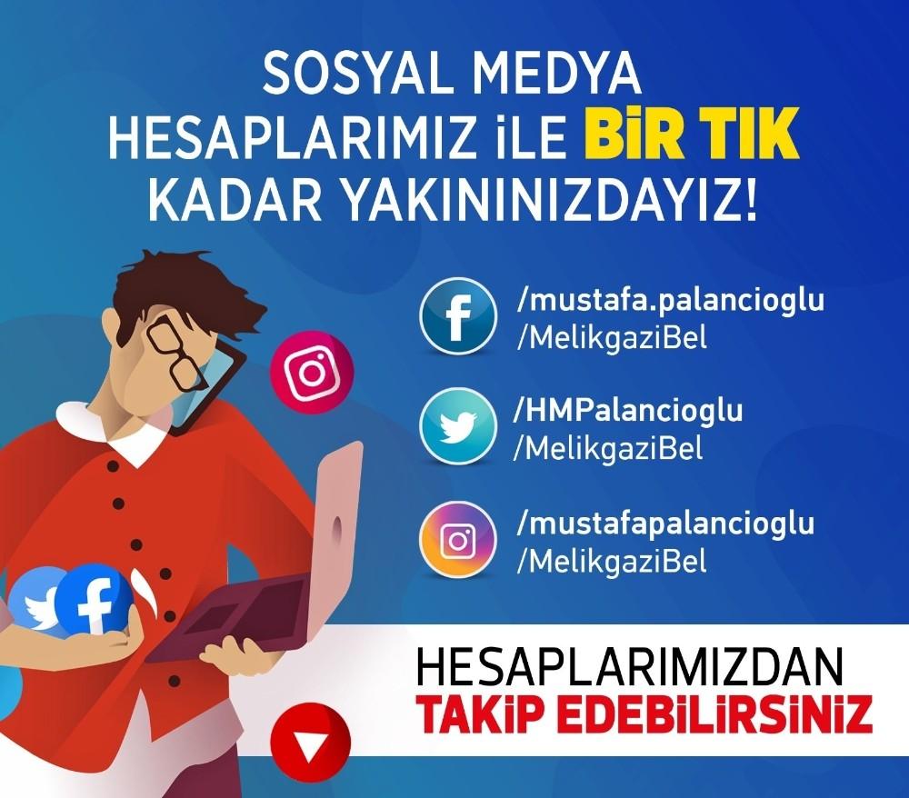 Melikgazi Belediyesi'nden sosyal medya kullanıcılarına davet