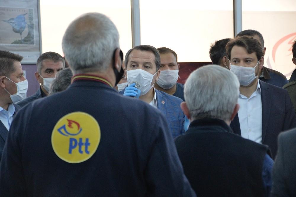 Memur-Sen Genel Başkanı Yalçın'dan PTT çalışanlarına ziyaret