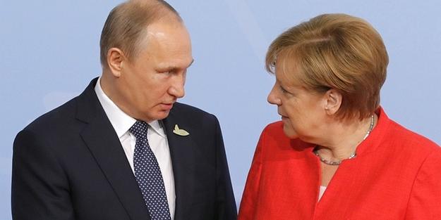 Merkel ve Putin'den ortak Suriye mesajı