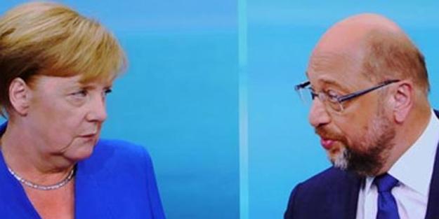 Merkel ve Schulz'dan canlı yayında küstah tehditler!