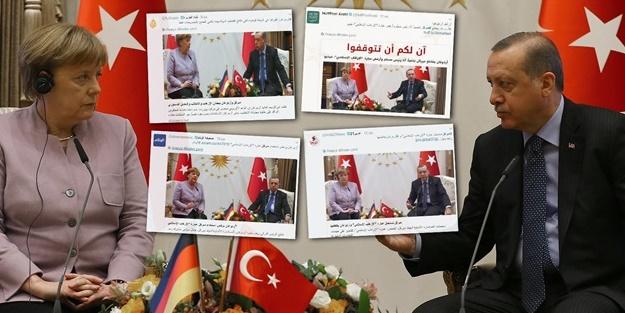 Merkel'e haddini bildiren Erdoğan Arap basınını salladı!