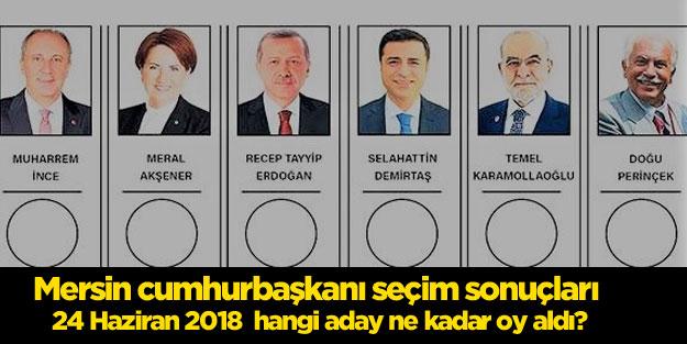 Mersin seçim sonuçları 24 Haziran 2018 Cumhurbaşkanı seçim sonuçları