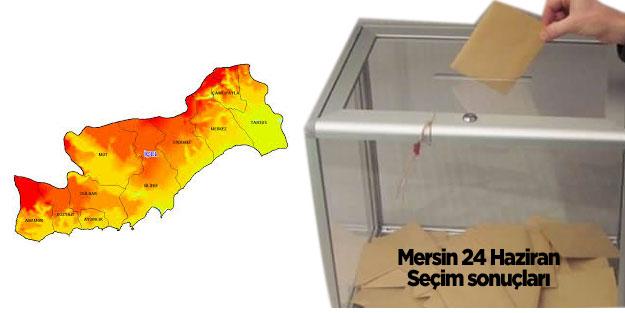 Mersin seçim sonuçları 24 Haziran 2018 seçimleri AK Parti MHP Cumhur İttifakı CHP İYİ Parti Saadet Millet İttifakı HDP Mersin oy oranları