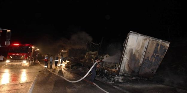 Mersin'de ilginç kaza: 1 ölü 2 yaralı