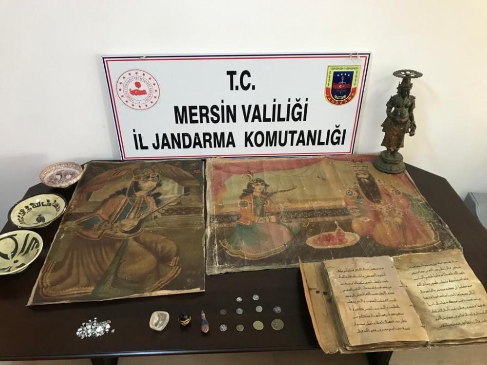 Mersin'de tarihi eser operasyonu: 2 gözaltı