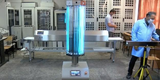 Meslek lisesinde üretildi! İşte koronavirüsü öldüren robot