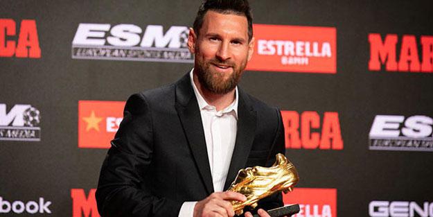Messi 6'ncı kez Altın Ayakkabı'nın sahibi oldu