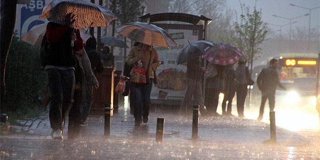 Meteoroloji'den 'gök gürültülü' sağanak yağış uyarısı