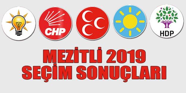 Mezitli seçim sonuçları 2019 | Mersin Mezitli 31 Mart seçim sonuçları oy oranları