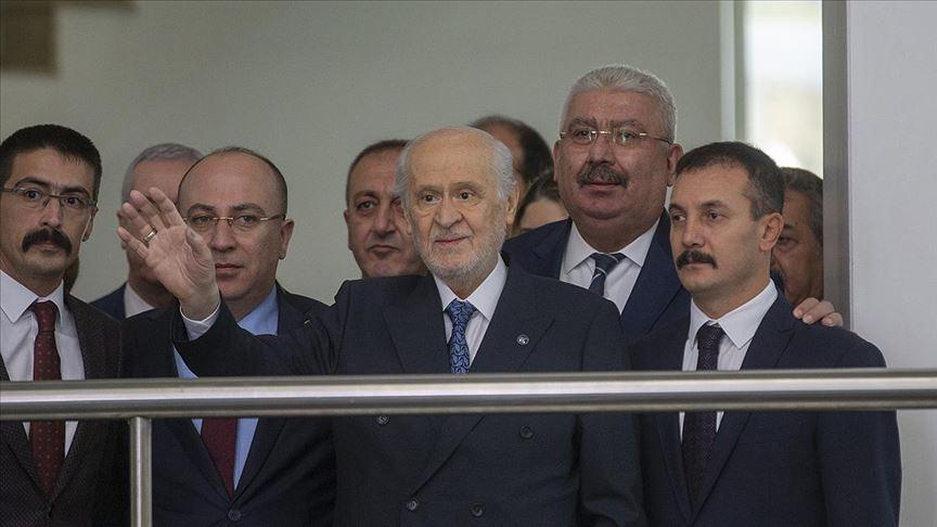 MHP Genel Başkanı Devlet Bahçeli MHP Genel Merkezi'ndeki mesaisine başladı