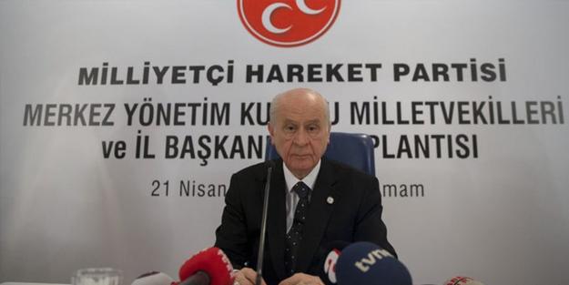 MHP Lideri Bahçeli, Kızılcahamam'da konuşuyor