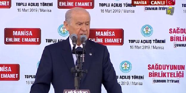 MHP Lideri Bahçeli: Ezanı ıslıklayanlarla CHP'ye ve İP'e oy veren kardeşlerimizin ne ilgisi vardır?
