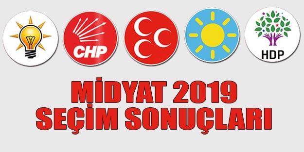 Midyat seçim sonuçları 2019 | Mardin Midyat 31 Mart seçim sonuçları oy oranları