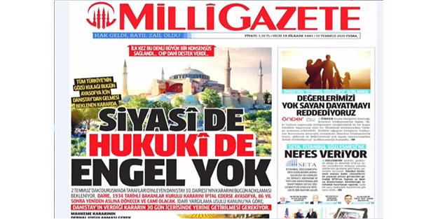 Milli Gazete CHP'nin yasakçı parti olduğunu kabul etti! 'Birlikte alkışlayalım'