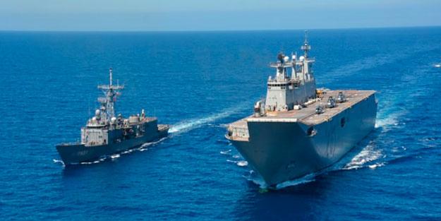 Milli gemilere çok özel görev! Yunanlılar Türk amfibine hayran kaldı