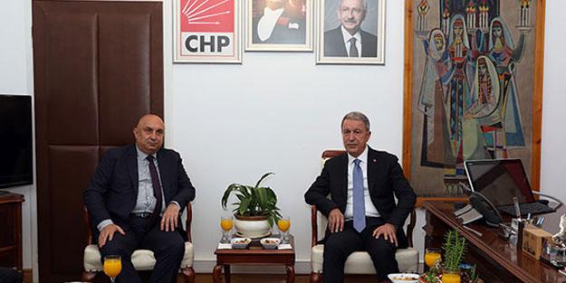 Milli Savunma Bakanı Akar, CHP Grubu'nu ziyaret etti
