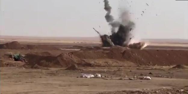 Milli Savunma Bakanlığı görüntüleri paylaştı: Böyle havaya uçuruldu