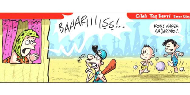 Milliyetçi geçinen Akşener'in Yeniçağ'ından karikatür adı altında Türkiye düşmanlığı! 'Barışşş, koş annen çağırıyor'