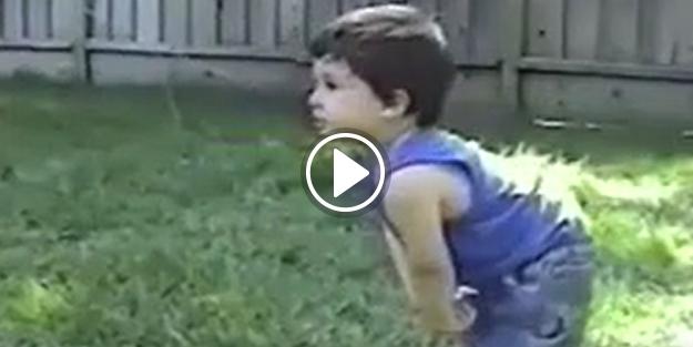 Minik çocuğun yüzüne top çarparsa...
