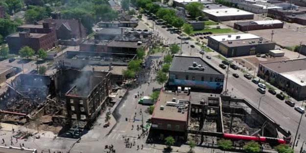 Minneapolis isyan sonrası harabeye döndü