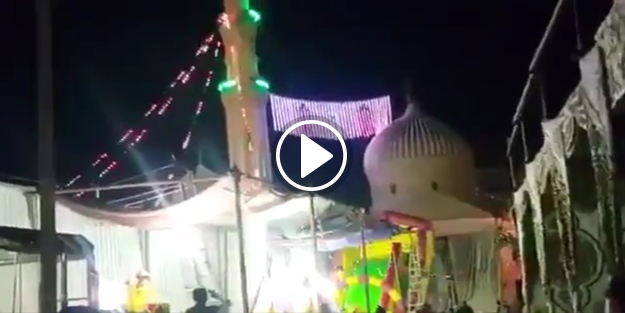 Mısır'da şok görüntü: Cami mahyasında dansöz oynatıldı!