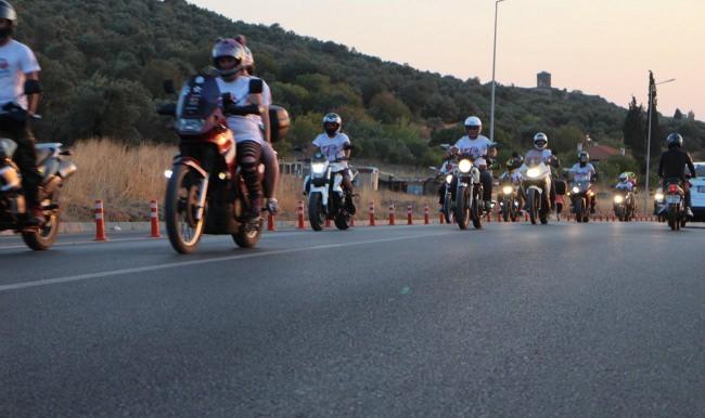 Motosiklet festivalinde Guiness rekor denemesi yapıldı