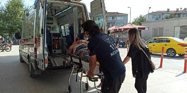 Motosiklet, kamyonetle çarpıştı! 1 yaralı