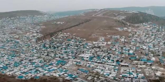 MSB sınırdaki çadırların havadan görüntüsünü paylaştı