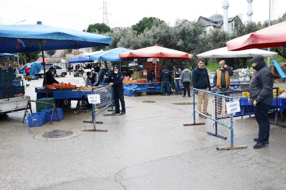 Mudanya'da pazar yeri denetimleri sürüyor