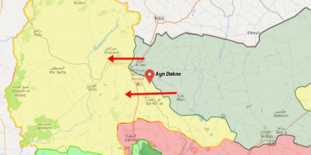 Muhalifler Afrin'e ilerliyor