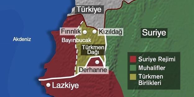 Muhalifler Türkmendağı'nda ilerliyor