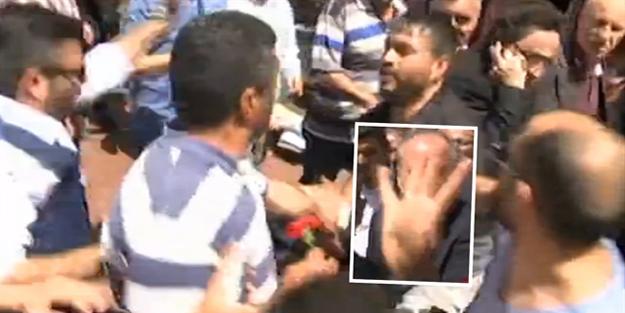 Muharrem İnce'nin adamları Rabia yapan vatandaşa saldırdı!