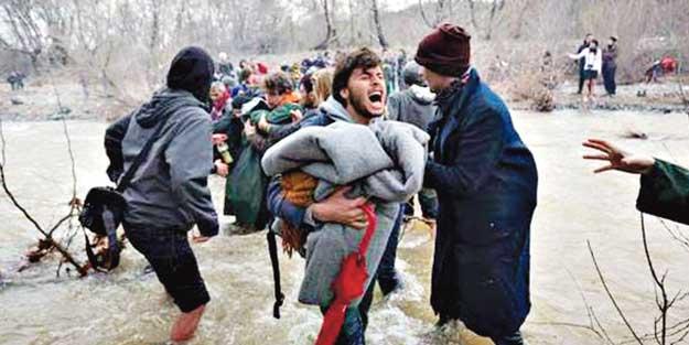 Mültecilere Yunan mezalimi!