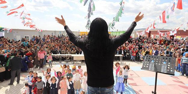 Murat Kekilli, Azez'de savaş mağdurlarına konser verdi!
