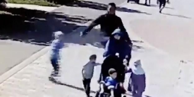 Müslüman kadına alçak saldırı