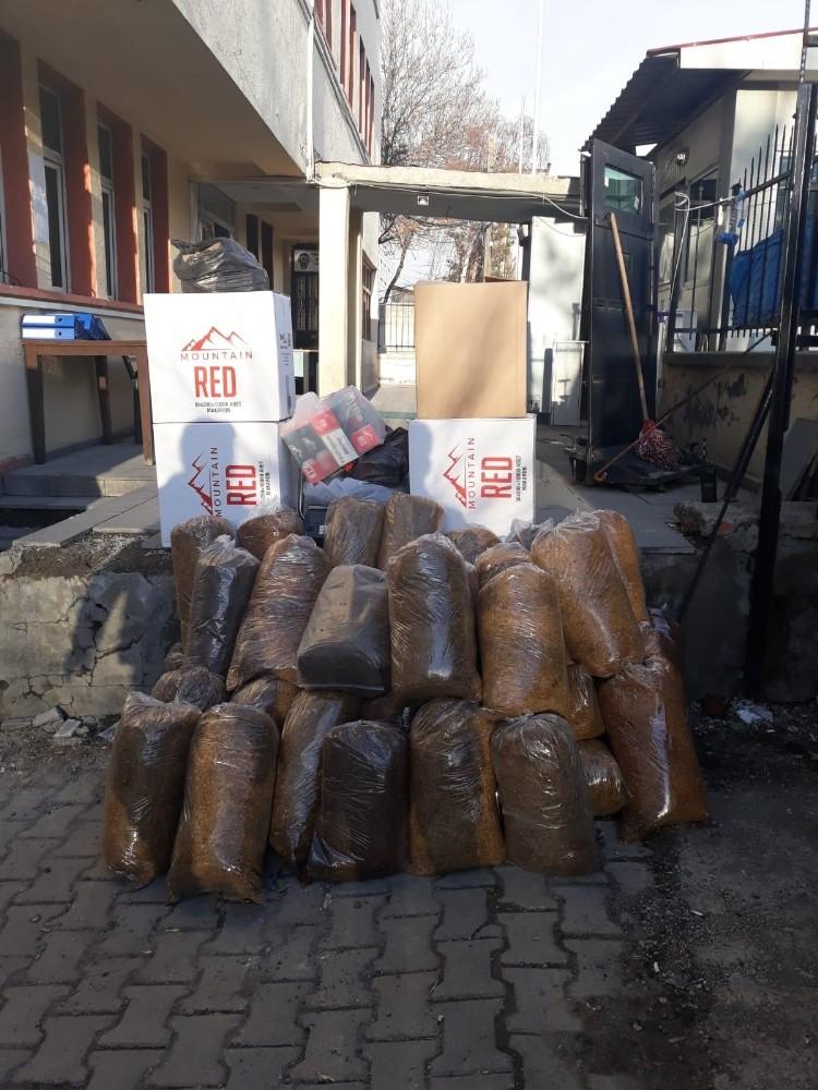 Muş'ta kaçak tütün operasyonu: 1 gözaltı